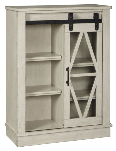 "42"" Accent Cabinet with Barn Sliding Door, Antique White By Casagear Home"
