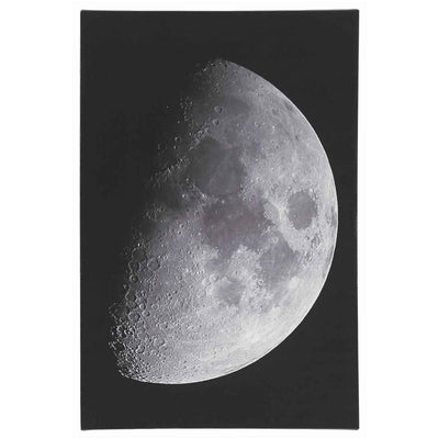 "16"" X 24"" Wood Frame Moon Wall Art, Black and White By Casagear Home"