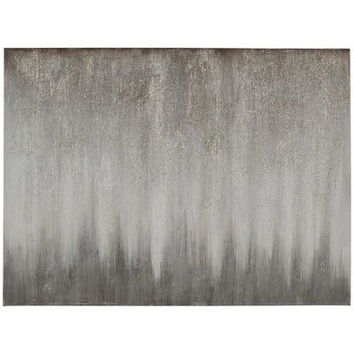 "47"" X 35"" Wood Frame Abstract Wall Art, Silver and Gray By Casagear Home"