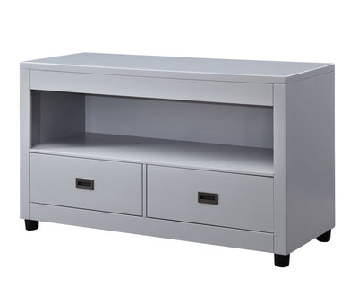 Transitional Style Wooden Sofa Table with 2 Drawers, Gray and Black - BM207459 By Casagear Home