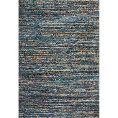 76 X 53 Power Loomed Horizontal Stripes Area Rug Blue By Casagear Home BM207816