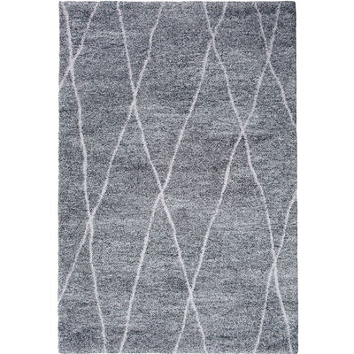 "7'6"" X 5'3"" Power Loomed Irregular Diamond Print Area Rug, Gray By Casagear Home"