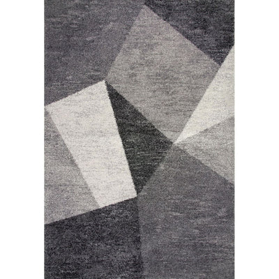 76 X 53 Power Loomed Faceted Print Area Rug Gray By Casagear Home BM207820