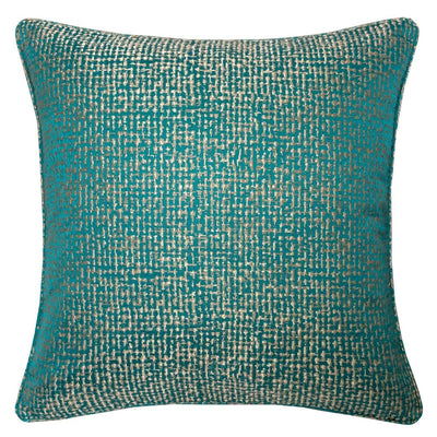 20 Square Shimmering Accent Pillow Set of 2 Silver and Blue By Casagear Home BM207870