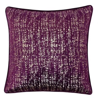"20"" Square Shimmering Accent Pillow, Set of 2, Purple and Silver By Casagear Home"
