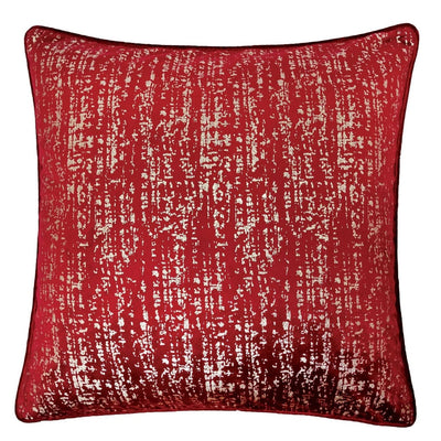 "20"" Square Shimmering Accent Pillow, Set of 2, Red and Silver By Casagear Home"