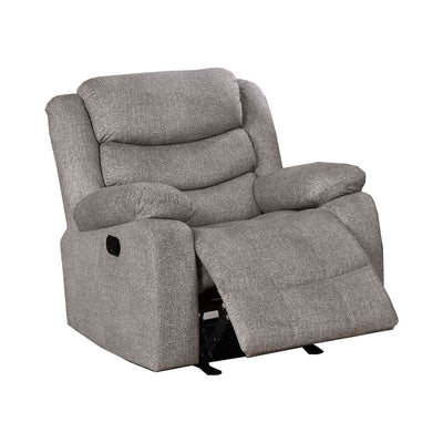 "38"" Upholstered Manual Recliner, Light Gray By Casagear Home"