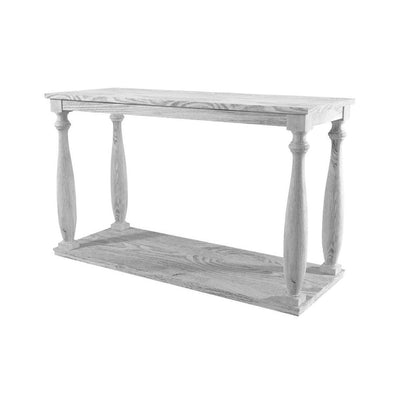 53 4-Post Sofa Table with Bottom Shelf White By Casagear Home BM208127