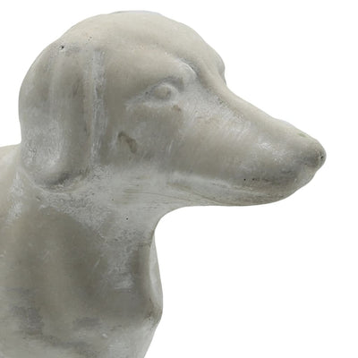 5 Standing Cement Dachshund Dog Figurine Gray By Casagear Home BM208404