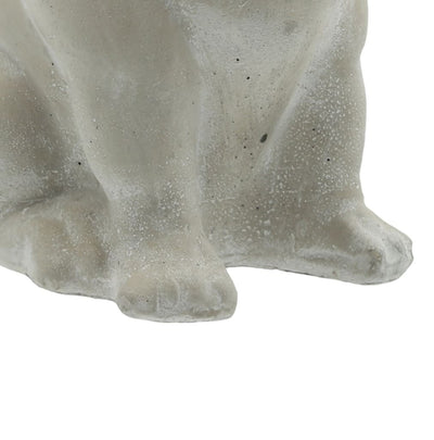 9.5 Sitting Cement Bulldog Figurine Gray By Casagear Home BM208405