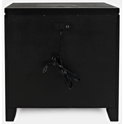 3 Drawer Night Stand with Power Outlets Charcoal Gray By Casagear Home BM208454