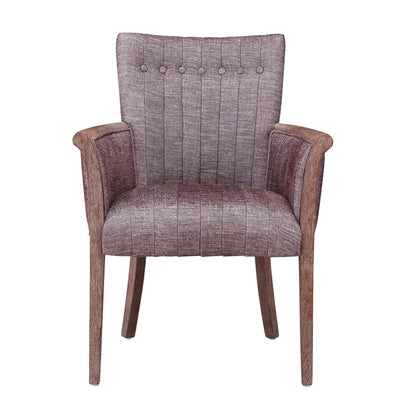 Fabric Upholstered Tufted Back Accent Chair with Flared Arms Brown By Casagear Home BM209074