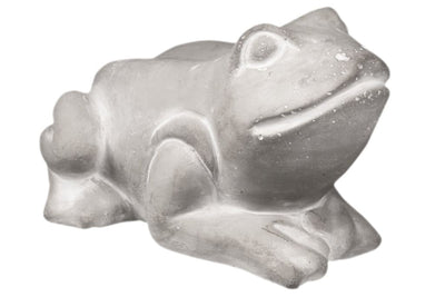 Cemented Resting Frog Figurine on Arms Washed Gray By Casagear Home BM209434