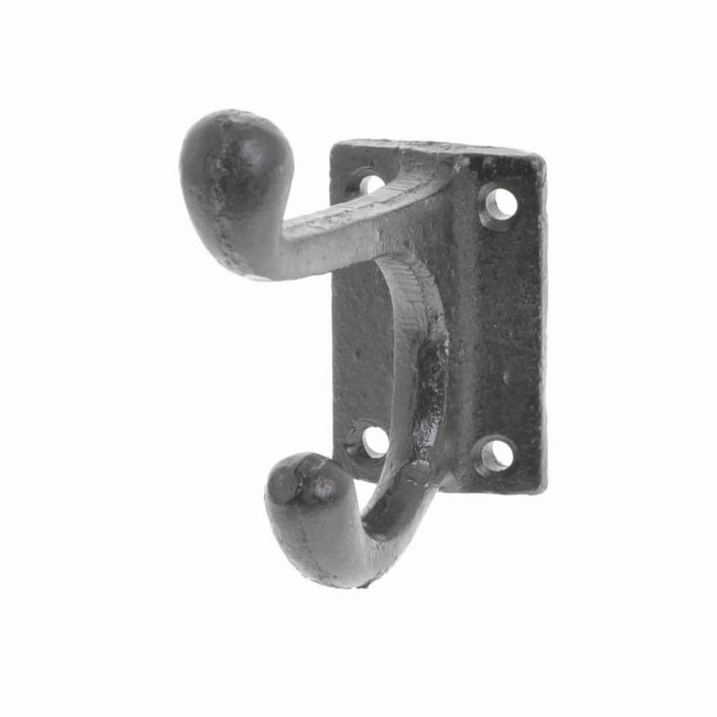2 Point Wall Hook with 4 Holes, Silver By Casagear Home