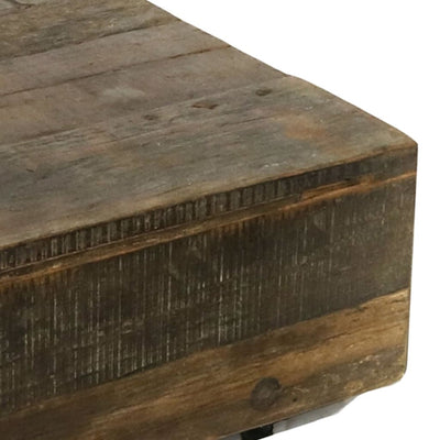 47 Rectangular Plank style Coffee Table Brown By Casagear Home BM210543