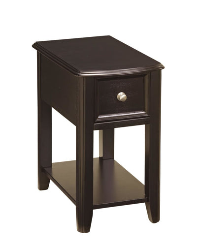 1 Drawer Chair Side End Table with Bottom Shelf, Dark Brown By Casagear Home