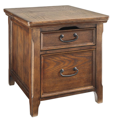 1 Drawer Media End Table with Power Hub, Brown By Casagear Home