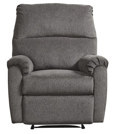 Upholstered Recliner with Pillow Top Armrests, Gray By Casagear Home