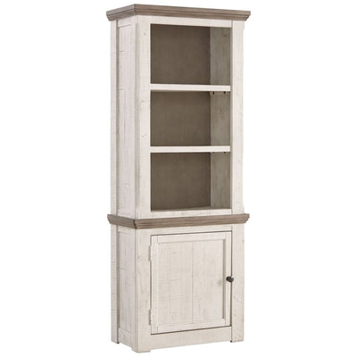 "74"" 1 Door 2 Shelf Left Pier Cabinet, White and Brown By Casagear Home"