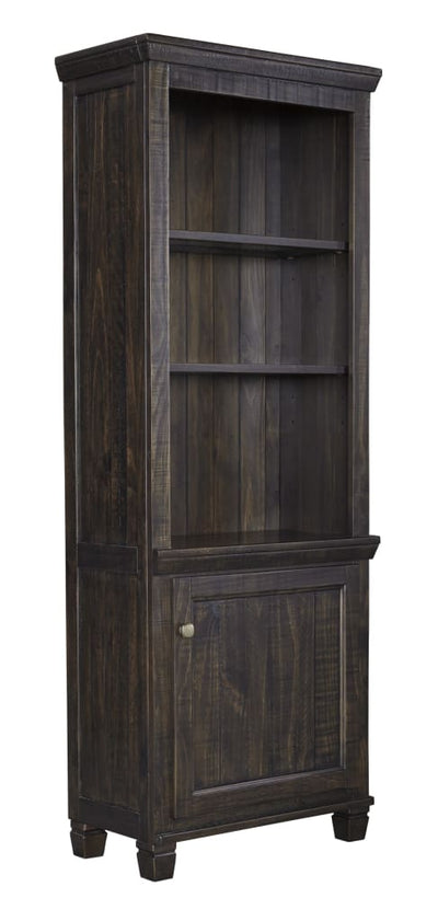 "76"" 1-Door 2 Shelf Left Pier Cabinet, Dark Brown By Casagear Home"