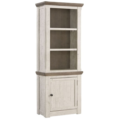 "74"" 1 Door 2 Shelf Right Pier Cabinet, White and Brown By Casagear Home"