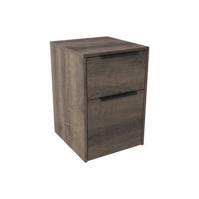 2 Drawer Dual Tone File Cabinet, Brown By Casagear Home