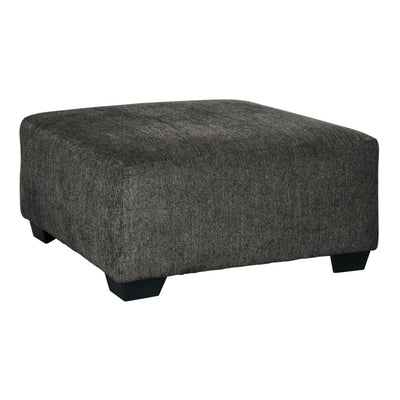 "39"" Texture Upholstered Oversized Accent Ottoman, Dark Gray By Casagear Home"