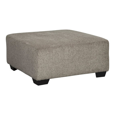 "39"" Texture Upholstered Oversized Accent Ottoman, Light Gray By Casagear Home"