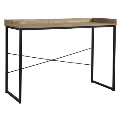 "43"" Office Desk with Metal Support, Brown By Casagear Home"