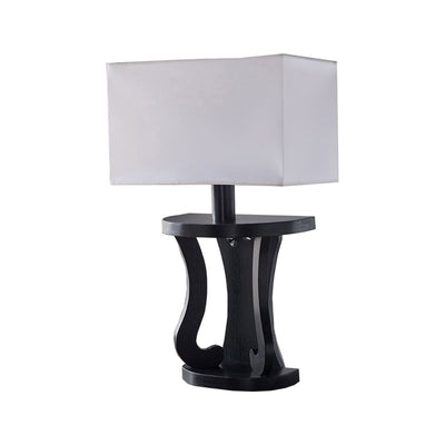 "24"" Table Lamp Shade With Scrolled Base, White and Black By Casagear Home"