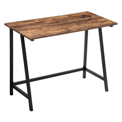 "39"" Wood Top Writing Table, Brown and Black By Casagear Home"