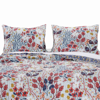 20 X 36 Floral Printed Sham with Cotton and Polyester Fill, Multicolor By Casagear Home