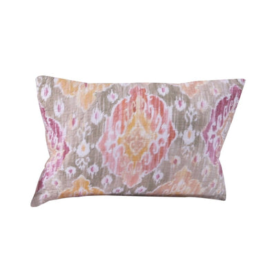 Fabric Pillow Sham with Medallion Pattern and Side Zipper, Multicolor By Casagear Home