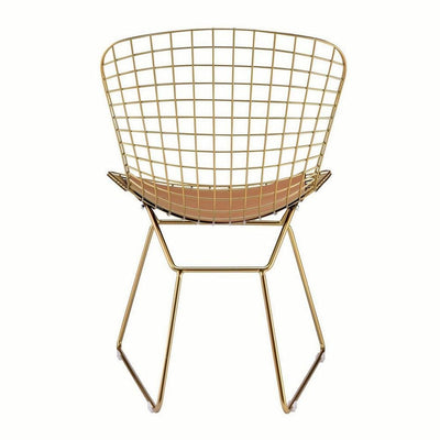 33 Cage Design Metal Side Chair Set of 2 Gold By Casagear Home BM225692