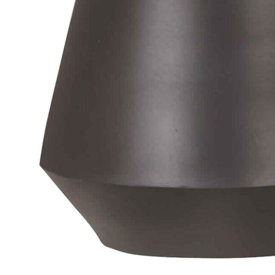Metal Frame Table Lamp with Fabric Shade Beige and Black By Casagear Home BM226100