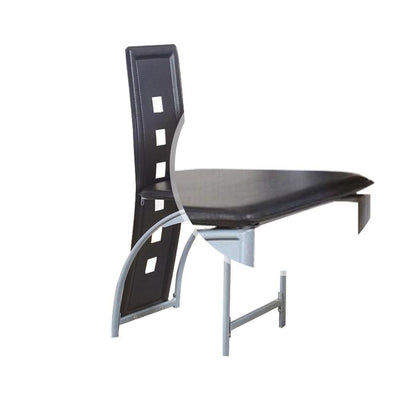Metal Counter Height Chair with Tubular Leg Set of 2 White and Black By Casagear Home BM226286