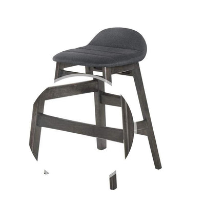 Wooden Counter Height Chair with Angled Leg Set of 2 Black and Gray By Casagear Home BM226288