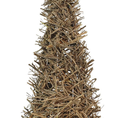 Wooden Rustic Accent Decor with Cork Branch Tree Design Large Brown By Casagear Home BM226390