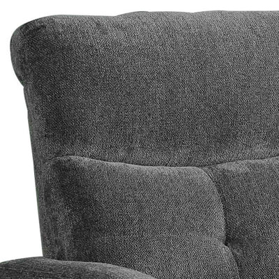 Fabric Upholstered Glider Recliner with Tufted Details Gray By Casagear Home BM226873