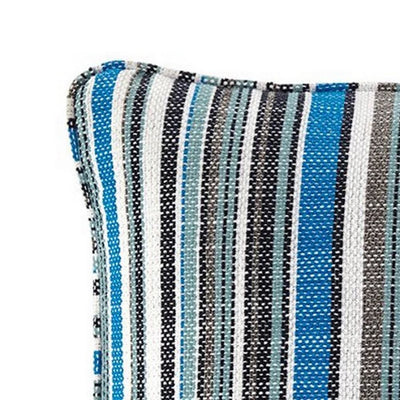 20 x 20 Zippered Accent Pillow with Stripe Print Set of 4 Multicolor By Casagear Home BM226973