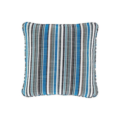 20 x 20 Zippered Accent Pillow with Stripe Print, Set of 4, Multicolor By Casagear Home