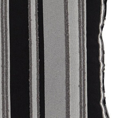 20 x 20 Zippered Accent Pillow with Stripe Print Set of 4 Black and Gray By Casagear Home BM226975