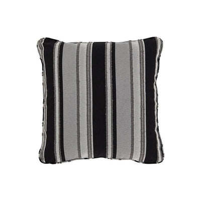 20 x 20 Zippered Accent Pillow with Stripe Print, Set of 4, Black and Gray By Casagear Home