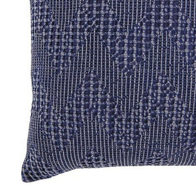 20 x 20 Cotton Accent Pillow with Chevron Design Set of 4 Navy Blue By Casagear Home BM227020