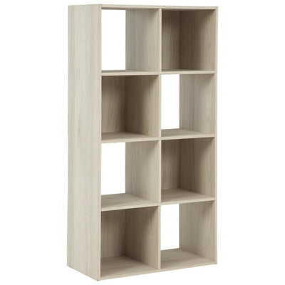 8 Cube Wooden Organizer with Grain Details, Natural Brown By Casagear Home