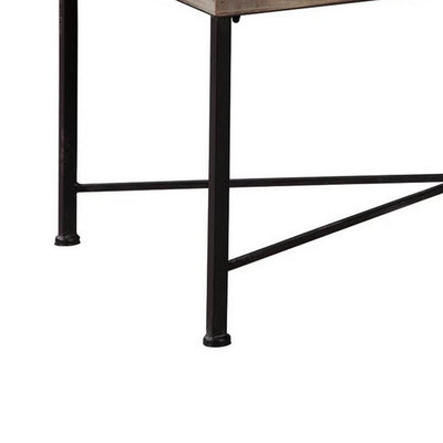 10 Storage Cubbies Accent Cocktail Table with Hinged Glass Opening Gray By Casagear Home BM227098