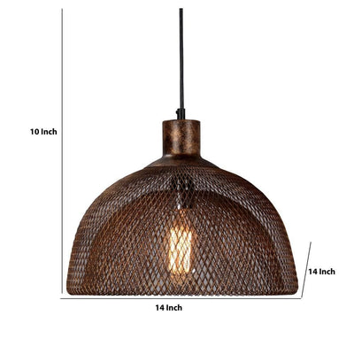 10 Dual Layer Mesh Design Metal Chandelier Rustic Bronze By Casagear Home BM227726