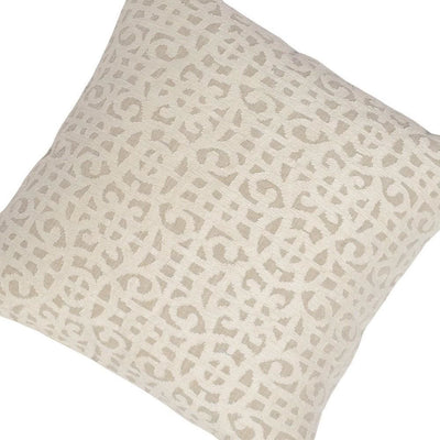 22 x 22 Throw Pillow with Abstract Pattern Cream By Casagear Home BM228805