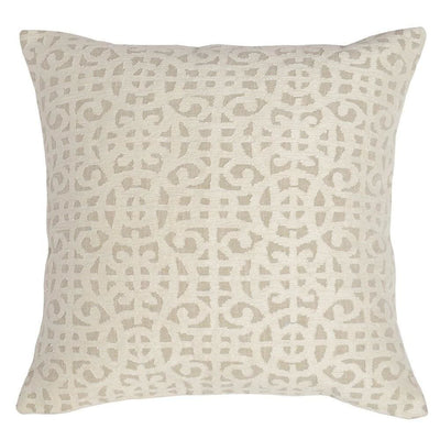 "22 x 22"" Throw Pillow with Abstract Pattern, Cream By Casagear Home"