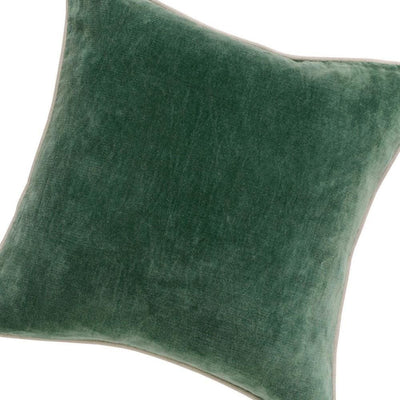 18 X 18 Throw Pillow with Piped Edges Green By Casagear Home BM228806